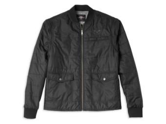 Harley-Davidson Convertible Quilted Jacket, removable Sleeves Herren