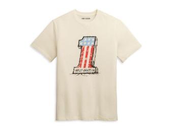 "Herren T-Shirt ""Cracked #1 Graphic"" Off-White 97438-21VM"