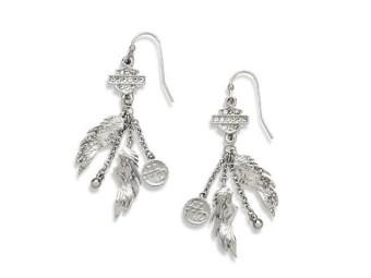 Embellished Winged Charm Drop Earring Damen
