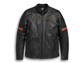 Men's Vanocker Waterproof H-D Triple Vent System Leather Jacket 98000-20EM
