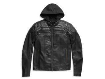 "Men's 3-in-1 Leather Jacket ""Auroral II"" 98003-21EM Willie G. Skull"
