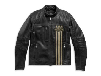 "Men's Leather Jacket ""Triple Vent Passing Link II"" 98005-21EM"