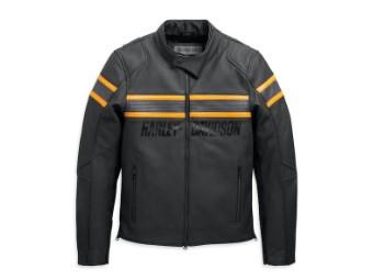 Men's Command Leather Jacket 98007-20EM Black