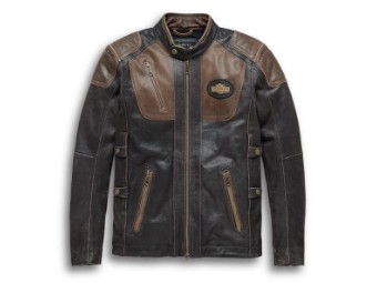 Men's H-D Triple Vent System Trostel Leather Jacket 98053-19EM Size XL