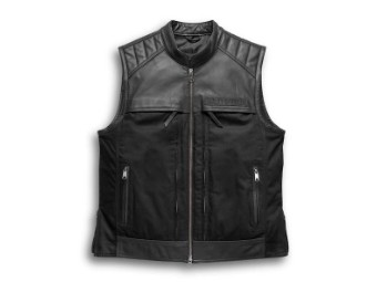 Men's Synthesis Pocket System Leather/Textile Vest 98120-17VM