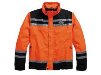 Harley-Davidson Hi-Visibility Reflective Rain Jacket Herren