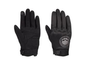 Men's Gloves -Skull- Soft Shell 98364-17EM Black