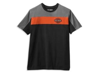 """Men's T-Shirt """"Copperblock Logo"""" Black Gray Orange 99064-21VM"""