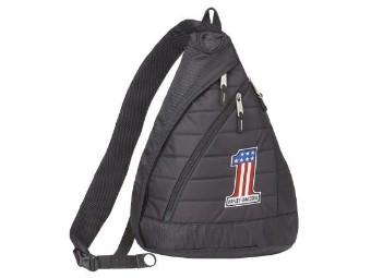 """Backpack """"#1 - Number 1"""" A90820-NUMBER1 Quilted Black 21 Ltr."""