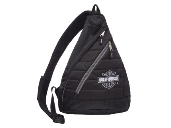 """Backpack """"Bar & Shield"""" A90820-SIL Quilted Black 21 Ltr."""
