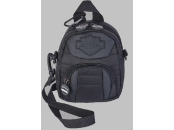 Mini-Rucksack Quilted Black  A99669