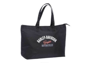 "Shopper ""Dragon"" A99914-DR Black Shopping Bag Genuine"