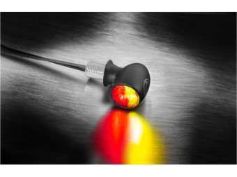 ATTO 3in1 Indicator / Taillight for Harley 1-piece black matt
