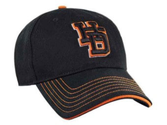 Baseball Cap Men's Embroidered HD-Letter Schwarz Dealer BCC00830
