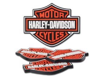 Harley-Davidson -Bar & Shield Rubber Coaster Set- HDL-18515