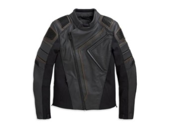 "JACKET ""WATT"", LEATHER, BLACK, PPE"