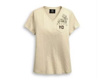 """Damen-Shirt """"FLOCKE D LOGO"""" 99047-20VW"""