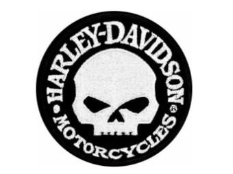 """Harley Davidson Aufnäher/Emblem """"Hubcap Skull"""" EM1029882 Willie G. Schwarz"""