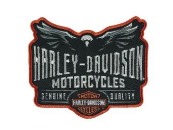 Harley-Davidson Embroidered Velocity Eagle Emblem Patch EM326642