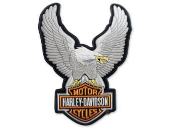 """Harley Davidson Emblem """"Upwing Eagle"""" Silver LG EMB328064"""