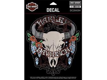 Harley-Davidson Sticker Decal -STEER SKULL- Sticker DC204304
