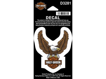 "Harley-Davidson Sticker Decal ""BROWNEAGLE"" small Eagle D3281"