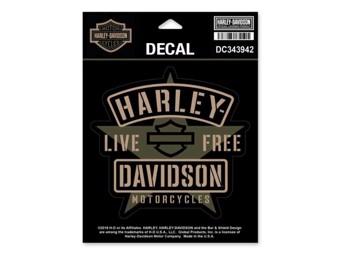 Harley-Davidson Sticker Decal -RESOLUTE- DC343942 Star Bar & Shield