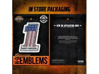 """Aufnäher """"#1 BLING"""" Emblem HDEMF1018 Patch"""