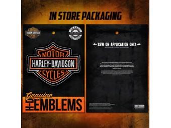 vHarley-Davidson Patch -B+S ORANGE- Emblem HDEMF1009 Bar & Shield