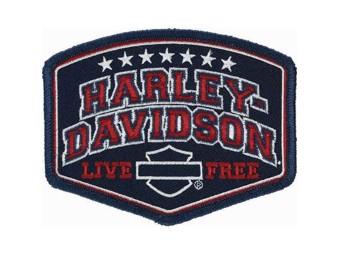 Harley-Davidson Patch, Emblem Harley Pride Red EM299842 Live Free