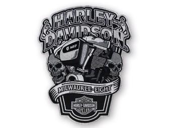 "Harley-Davidson Aufnäher Emblem ""MILWAUKEE EIGHT"" XL EM255904 Patch"
