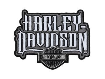 "Harley-Davidson Aufnäher, Emblem ""SPIKED TEXT"" reflective EM208752 mittel Patch"