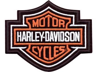 "Harley-Davidson Aufnäher Emblem ""BAR & SHIELD"" orange EMB302382mittel"