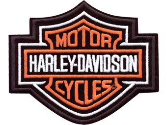 "Harley-Davidson Aufnäher/Emblem ""BAR & SHIELD"" orange EMB302383 groß"