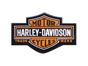 "Harley-Davidson Patch/Emblem ""BAR + SHIELD"" orange *EMB312383* long"
