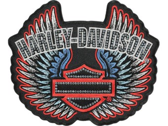 "Harley-Davidson Aufnäher/Emblem ""STUDDED REBEL SPIRIT"" Glitzer, Straß EM086843"