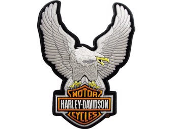 """Harley-Davidson Patch Emblem """"UPWING EAGLE SILVER"""" Patch EMB328062 small"""