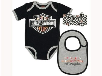 """Baby Set"" SGI-2501025 3-pie Set Girls 0-9 Months Body Black"