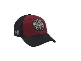 "Ricks Harley-Davidson Dealer ""Ballcap"" Mütze BCC27881 Rot Schwarz"
