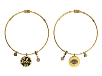 "BANGLE Bracelet ""GOLD LOVE"" Stainless Steel HSB0032-Bang"