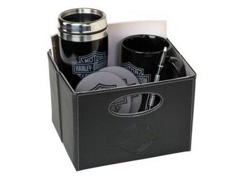 """Harley-Davidson """"BAR & SHIELD GIFT BASKET"""" HDL-19905 5teiliges Geschenk Set"""