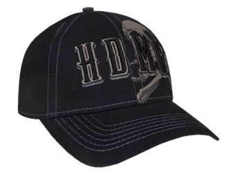 Harley-Davidson Baseball Cap -GRIM- *BCC34130* Black onesize Dealer Patch