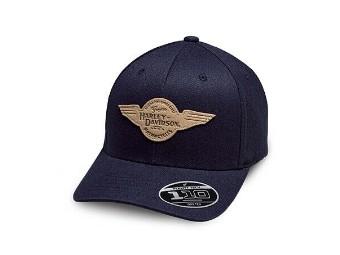 Harley-Davidson Baseballcap Winged Patch, Stretch adjustable *97842-19VM*