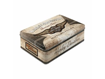 "Tin Box ""AMERICAN CLASSIC LOGO"" Storage Box NA30722"