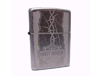 Harley-Davidson by Zippo Feuerzeug Sturm Antike Silber Edition ZIPPO60003620