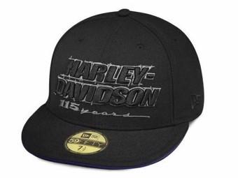 "Harley-Davidson Cap ""115th Anniversary 59FIFTY 99406-18VM Baseballmütze Schwarz"
