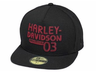 "Harley-Davidson Cap ""Established 1903 59FIFTY"" 97705-18VM Baseballmütze Schwarz"
