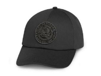 """Cap """"Flaming Skull"""" Trucker 97601-20VM Black"""