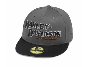 "Harley-Davidson Cap ""Iron Block 59FIFTY"" Dunkelgrau-Schwarz 99470-19VM New Era"