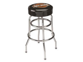 Classic Bar and Shield Bar stool HDL-12116 black chrome